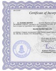 Certified Vietnamese version of legalized copy of certificate of incorporation